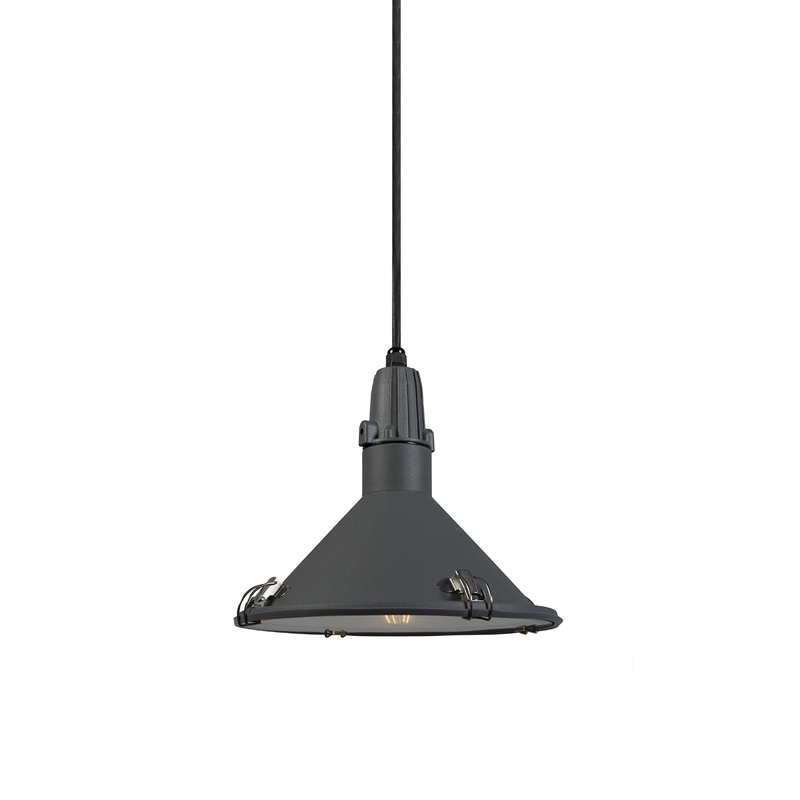 Industriële hanglamp grijs IP44 - Vida