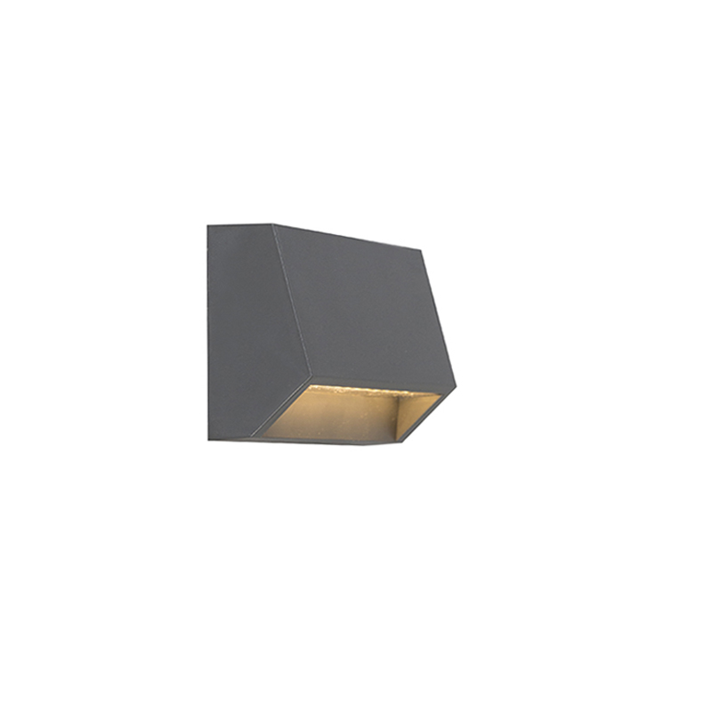 Moderne buitenwandlamp donkergrijs incl. LED IP54 - Sandstone 1