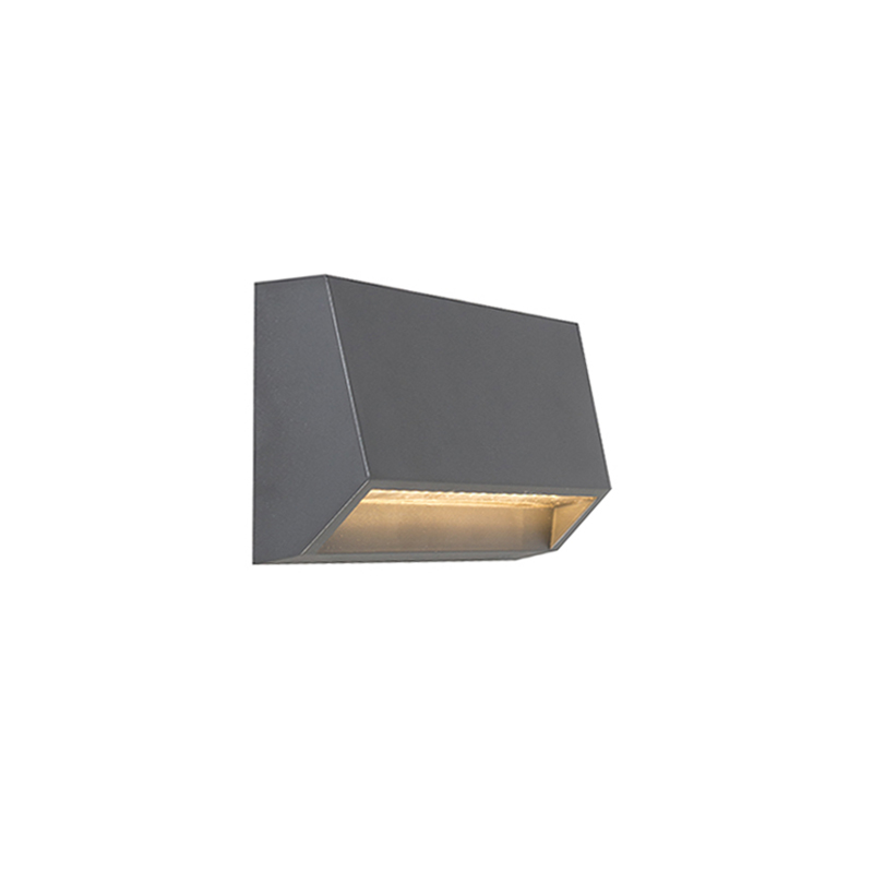 Moderne buitenwandlamp donkergrijs incl. LED IP65 - Sandstone 2