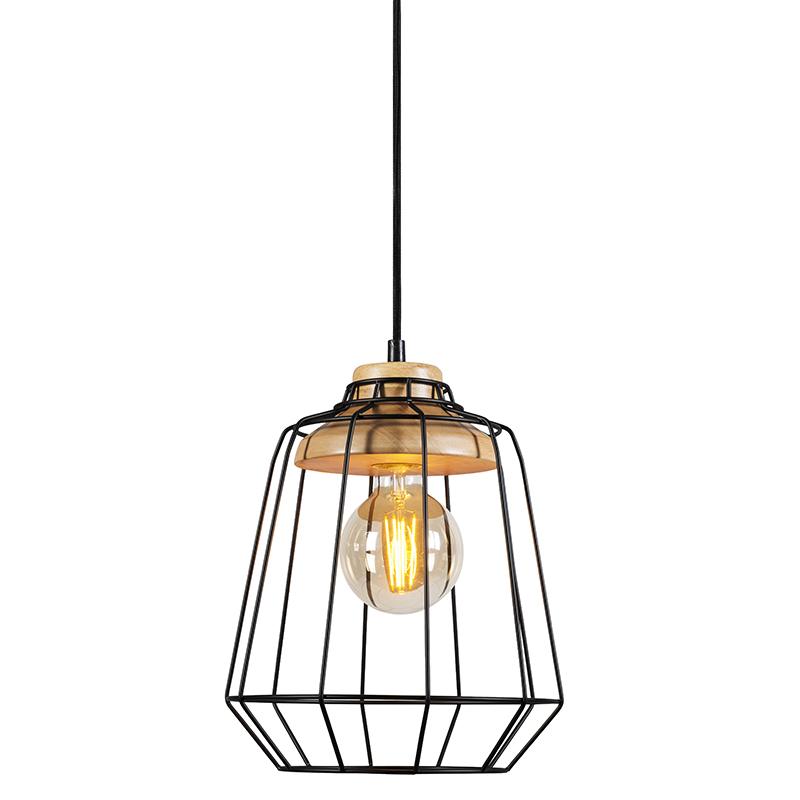Hanglamp Frame Wood 1 zwart