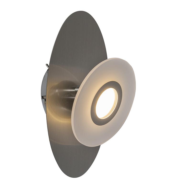 Wandlamp Ragna 1 staal