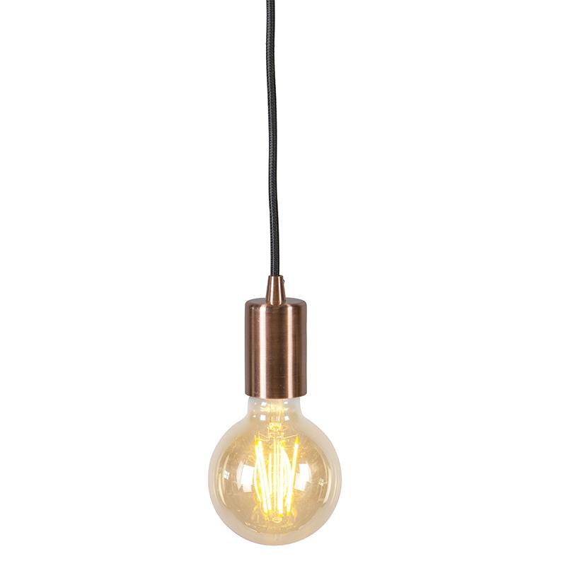 Industriële hanglamp koper - Facil 1