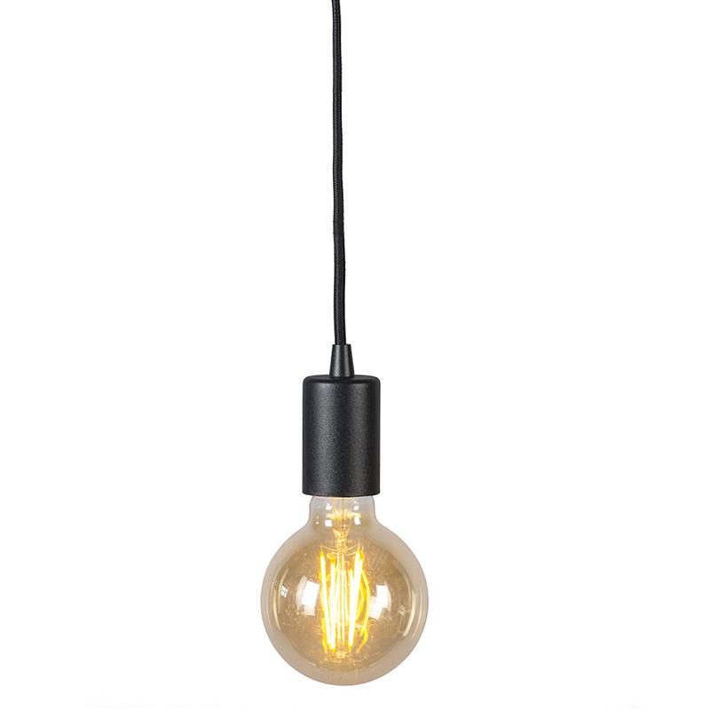Nowoczesna lampa wisząca czarna - Facil 1