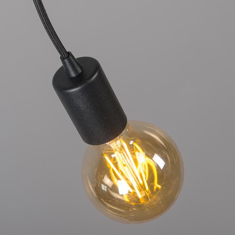 Industri�le hanglamp zwart - Facil 1