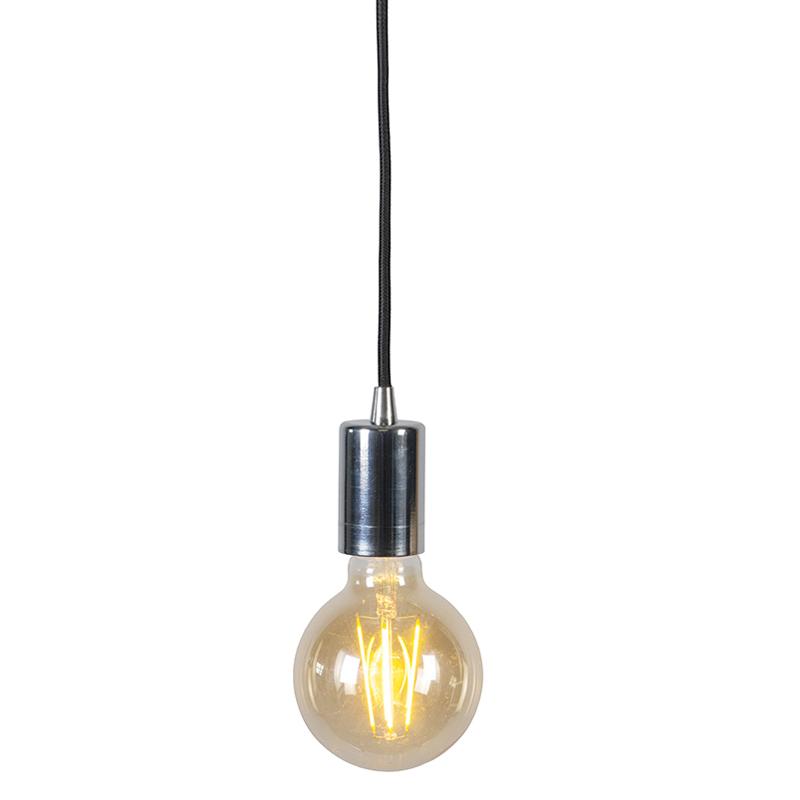 Nowoczesna lampa wisząca chrom - Facil 1
