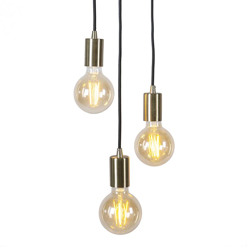 Nowoczesna lampa wisząca złota - Facil 3