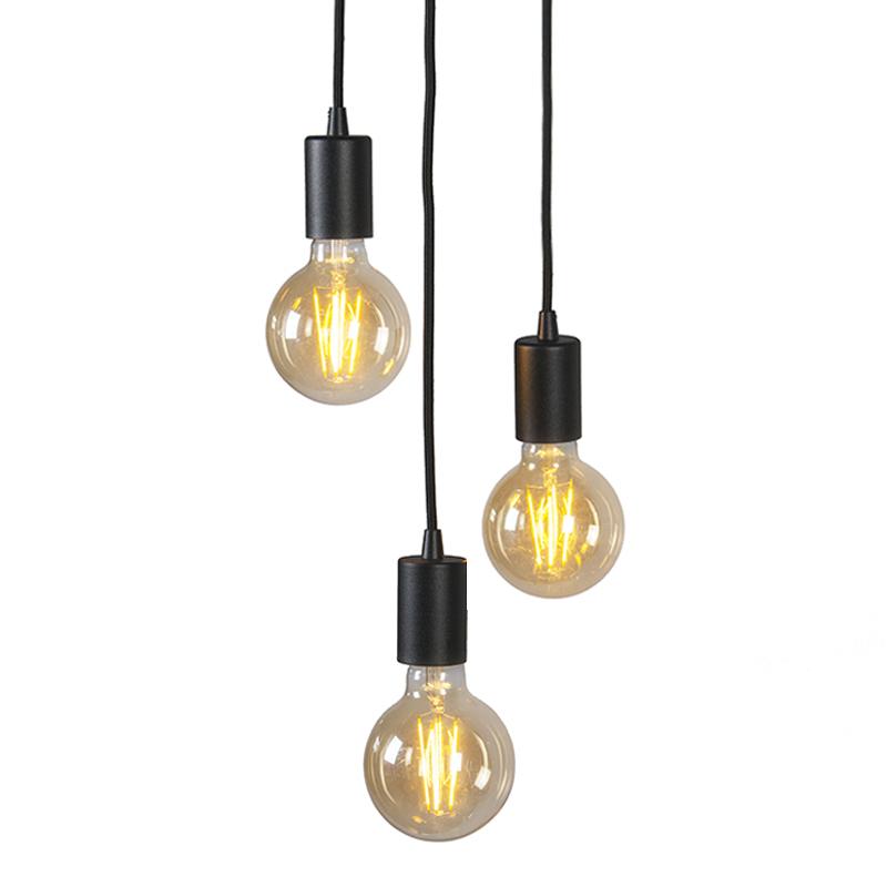 Industriële hanglamp zwart - Facil 3