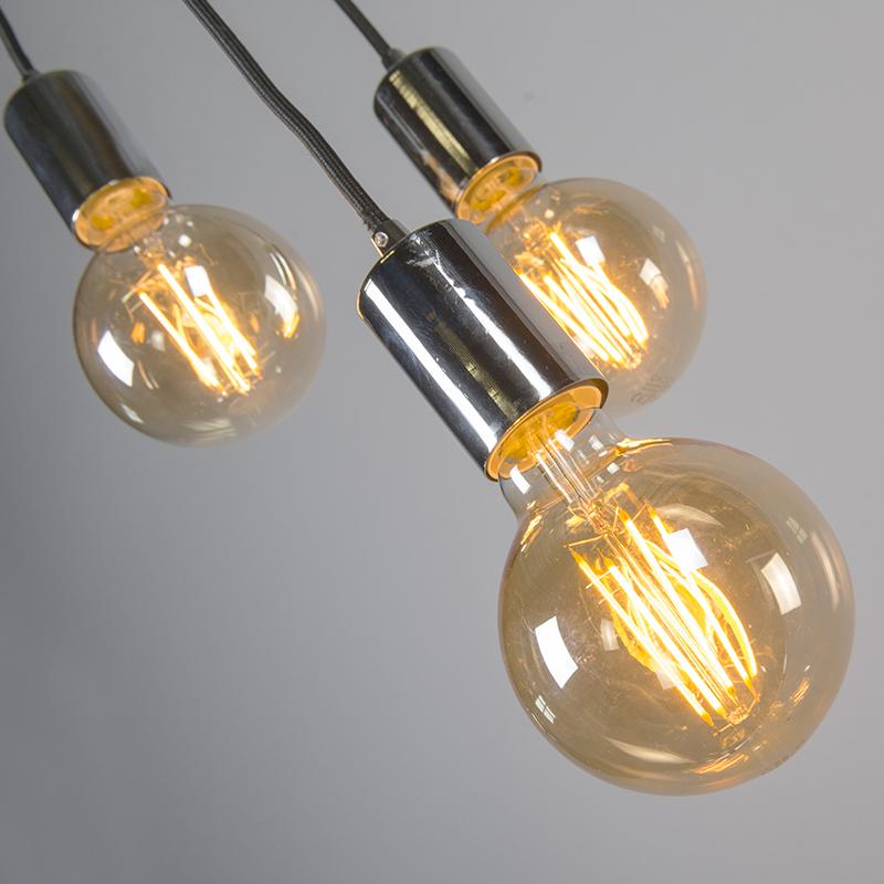 Moderne hanglamp chroom - Facil 3
