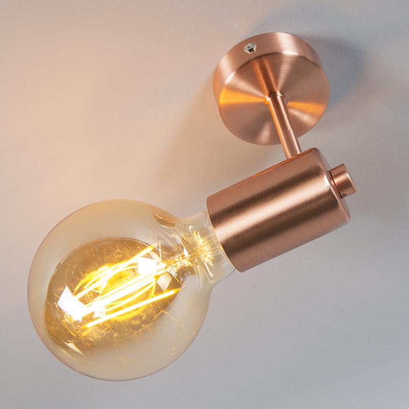 Art deco wandlamp koper - Facil 1