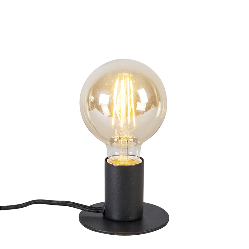 Nowoczesna lampa stołowa czarna - Facil