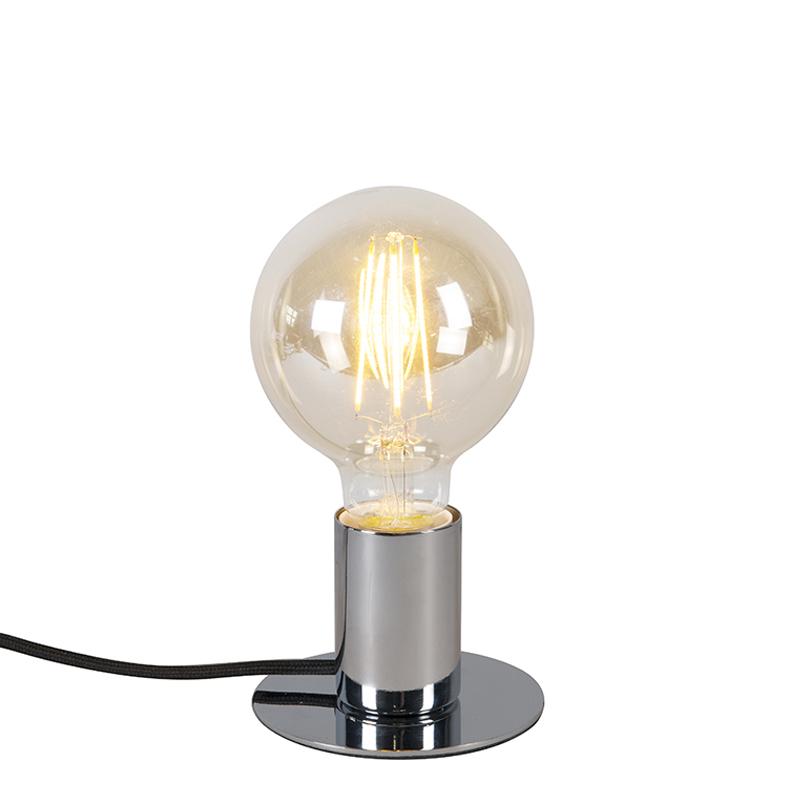 Nowoczesna lampa stołowa chrom - Facil