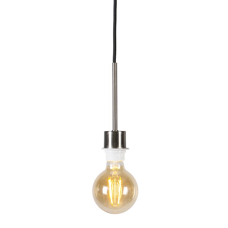 Lampa wisząca stal czarny kabel - Combi 1