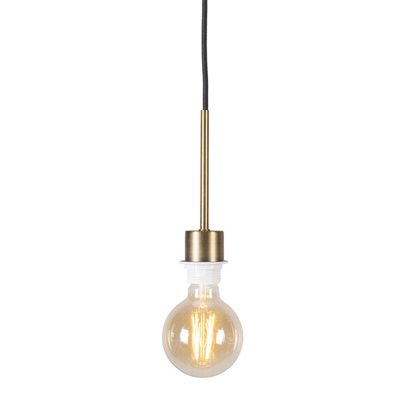 Lampa wisząca brąz czarny kabel - Combi 1