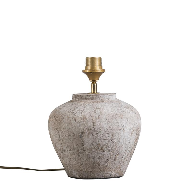 Klassieke tafellamp bruin steen - Inca XS