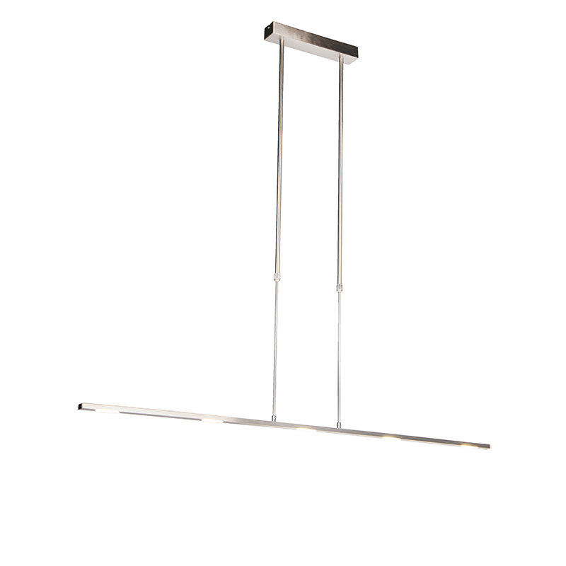 Moderne hanglamp staal recht incl. LED - Bold