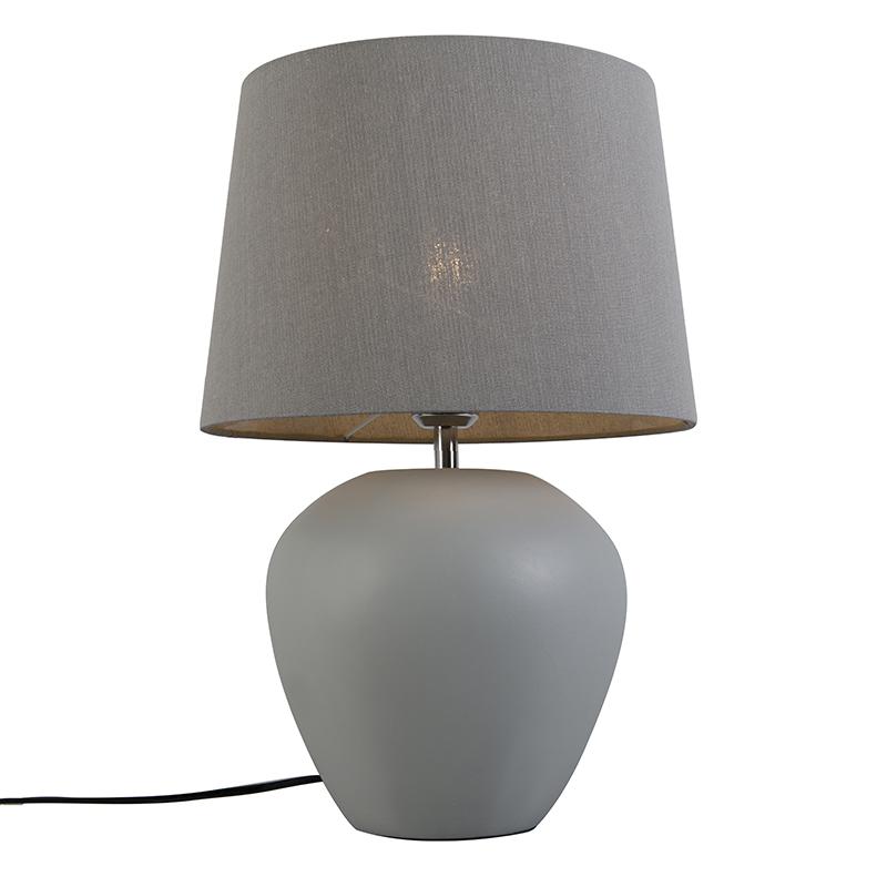 Tafellamp Pedro 1 grijs
