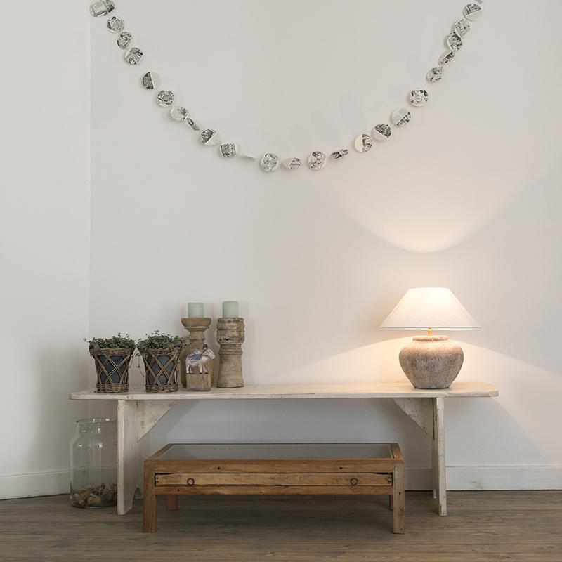 Image of Tafellamp Palma XS Scotch met kap 40cm linnen wit
