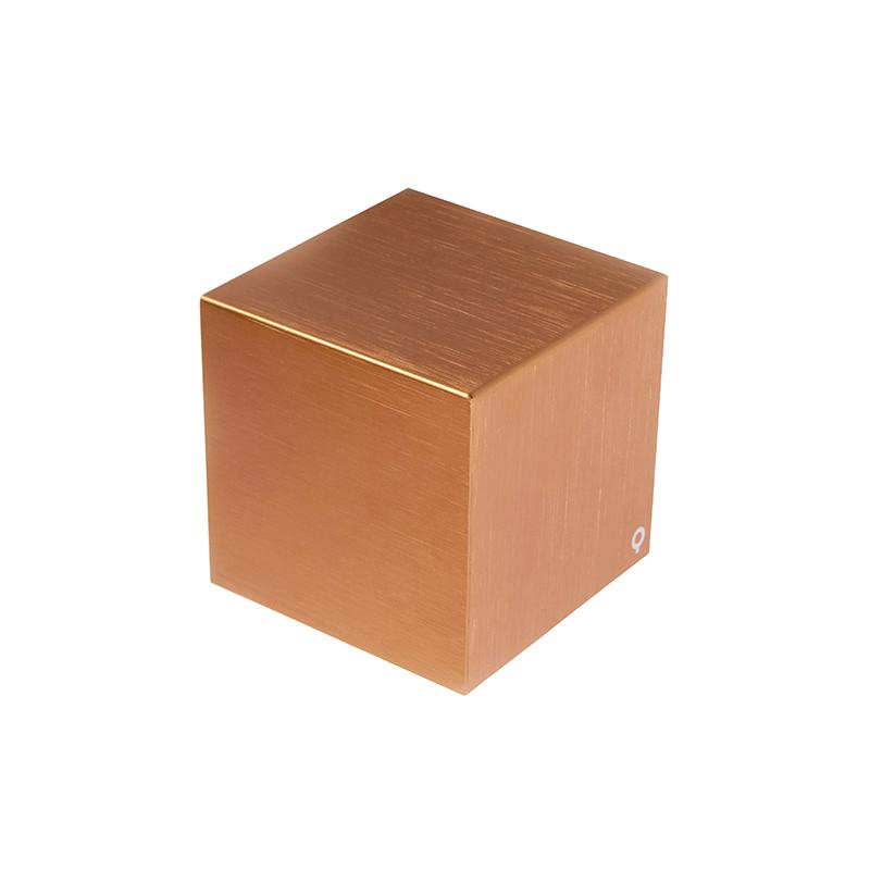 Nowoczesny kinkiet miedź - Cube