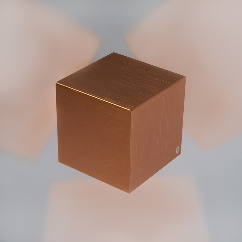 Wandlamp Cube koper