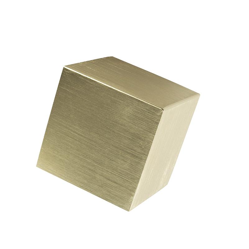Nowoczesny kinkiet złoty - Cube