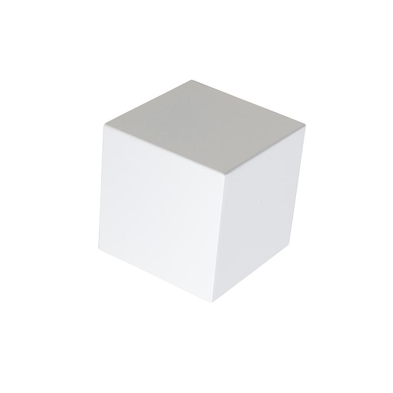 Nowoczesny kinkiet biały - Cube