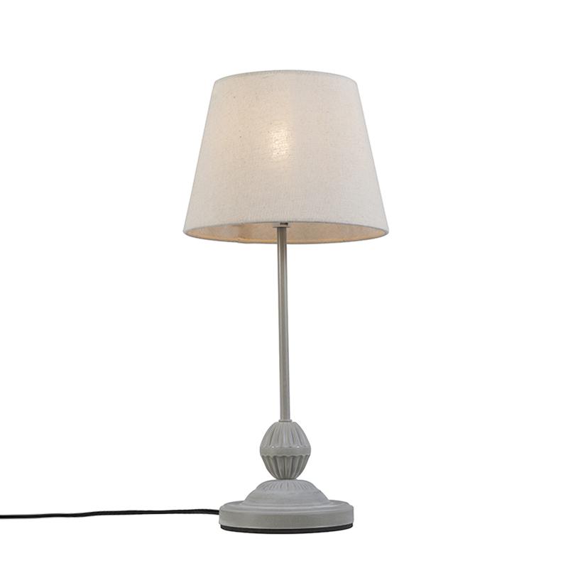 Tafellamp Charm grijswit