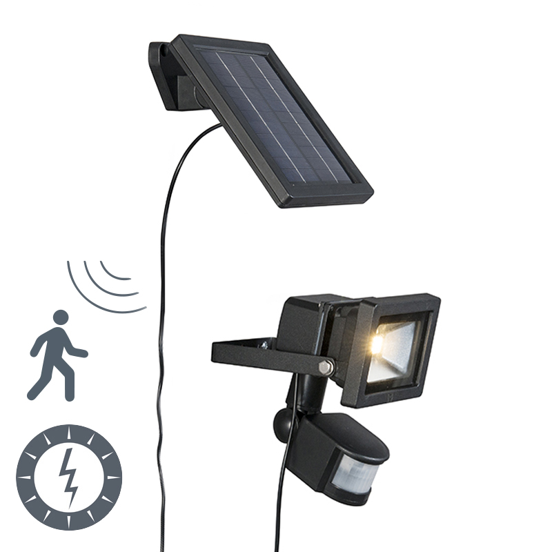Buitenlamp Sunny straler LED met PIR sensor op zonne-energie
