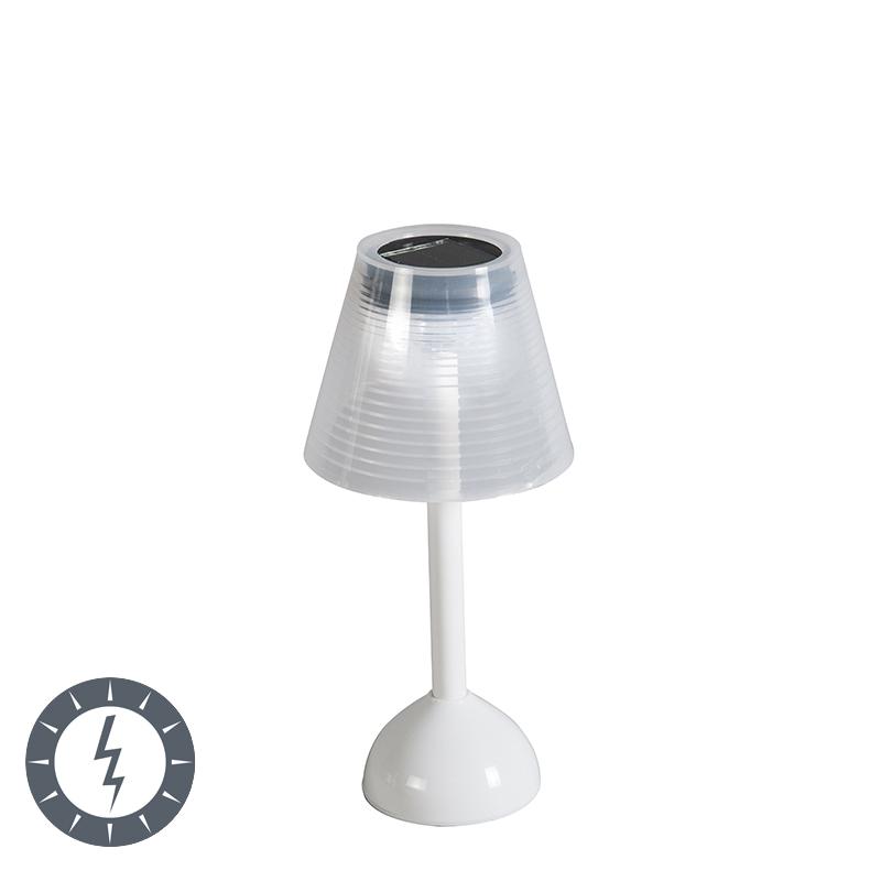 Tafellamp Jolie wit op zonne-energie