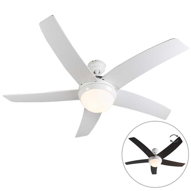 Plafondventilator wit met afstandsbediening - Cool 52