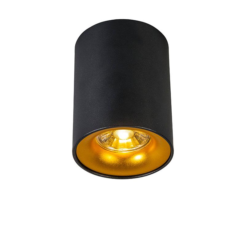 Foco moderno negro/oro - RONDA