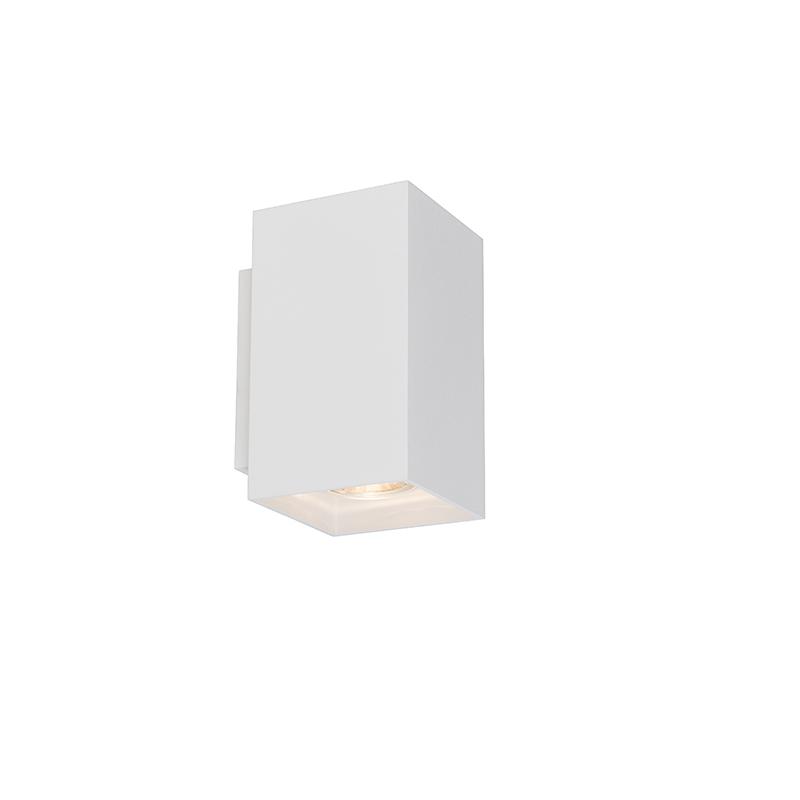 Moderne wandlamp vierkant wit - Sandy