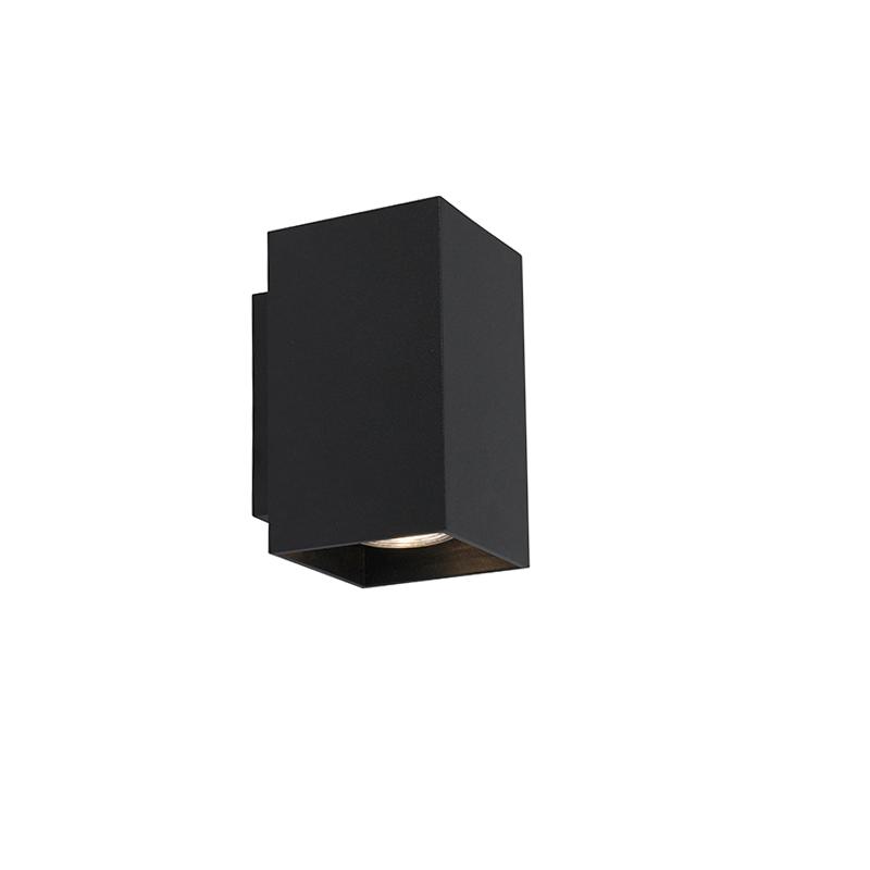 Moderne wandlamp vierkant zwart - Sandy