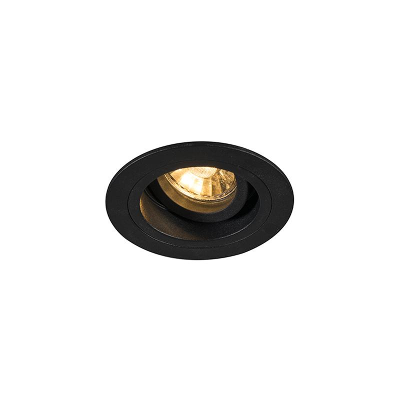 Oprawa do wbudowania okrągła czarna regulowana - Chuck