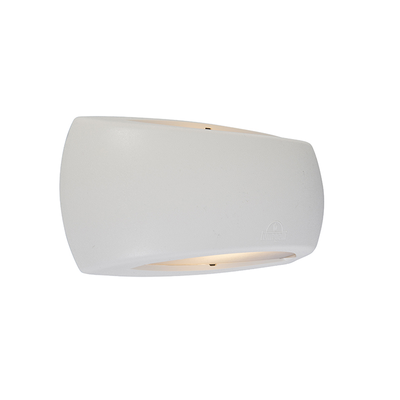 Moderne halfronde wandlamp wit incl. LED - Francy
