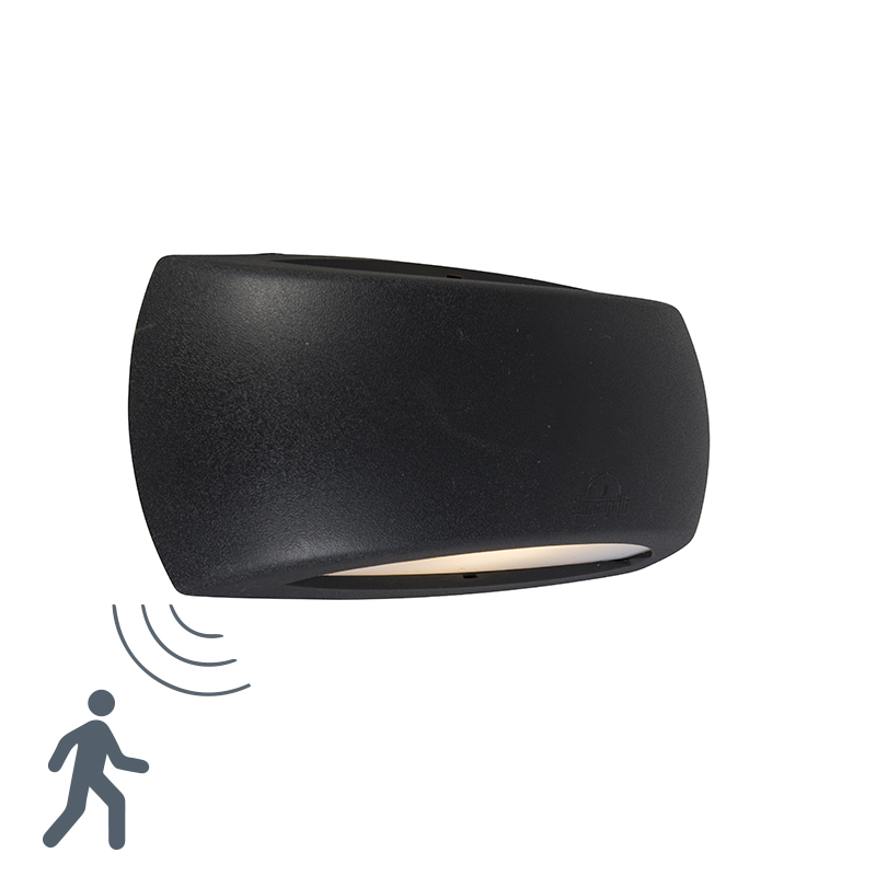 Wandlamp Francy zwart met bewegingssensor