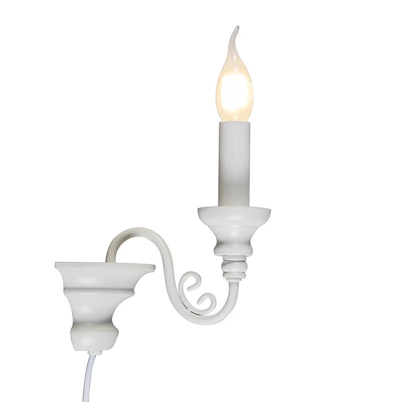 Wandlamp Marilla E14 wit