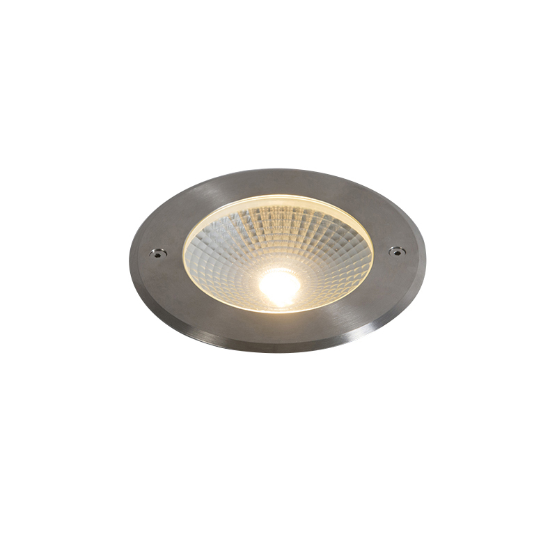Moderne grondspot aluminium incl. LED 10W - Bridge