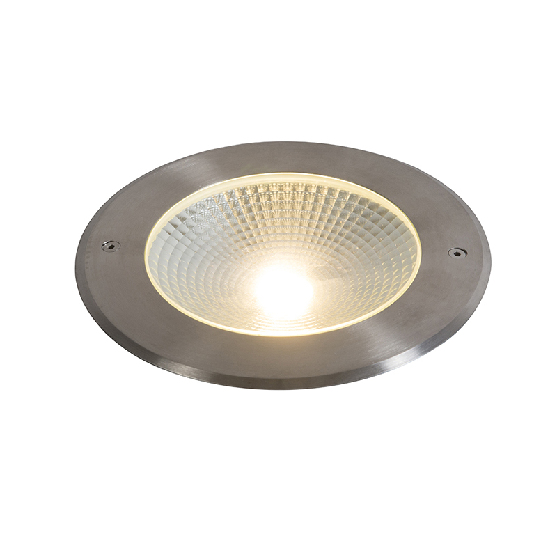 Moderne grondspot aluminium incl. LED 20W - Bridge