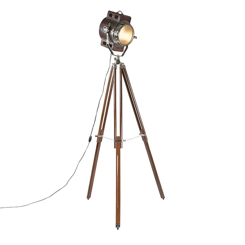Vloerlamp Tripod Camera bruin