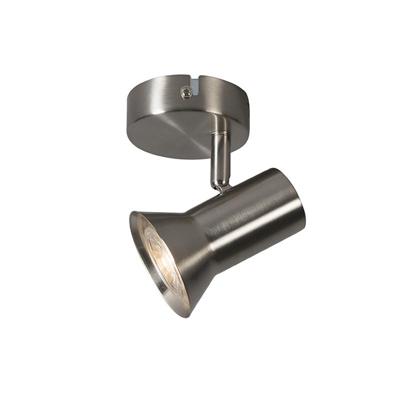 Bild av Plafond Spotlight / strålkastare 'Karin 1' Moderna stål - Passande för LED / Inomhus
