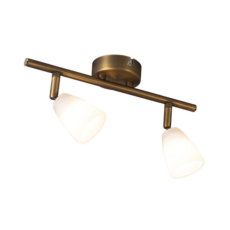 Bild av Plafond Spotlight / strålkastare 'Magda 2' Klassisk brons - Passande för LED / Inomhus