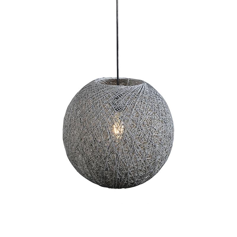 Landelijke Hanglamp grijs 35 cm - Corda