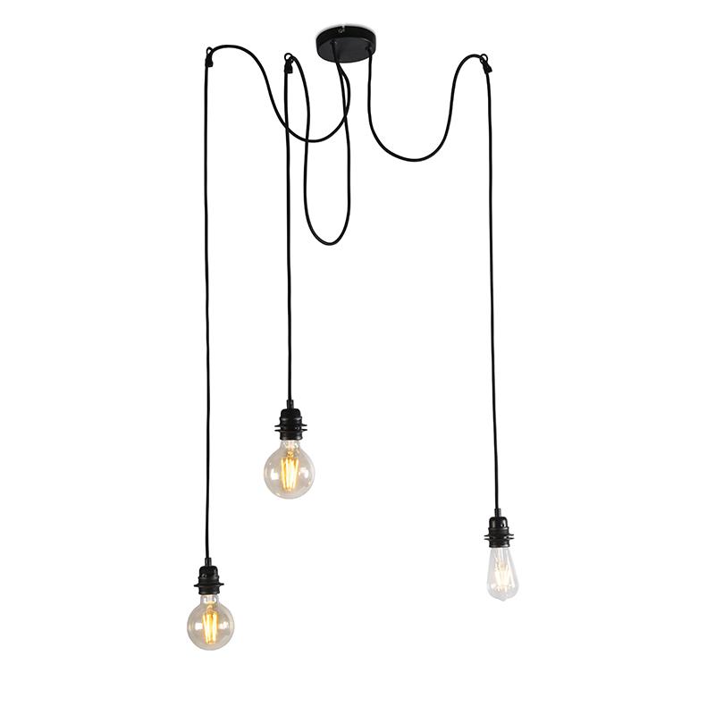 Industriele hanglamp zwart - Cava 3