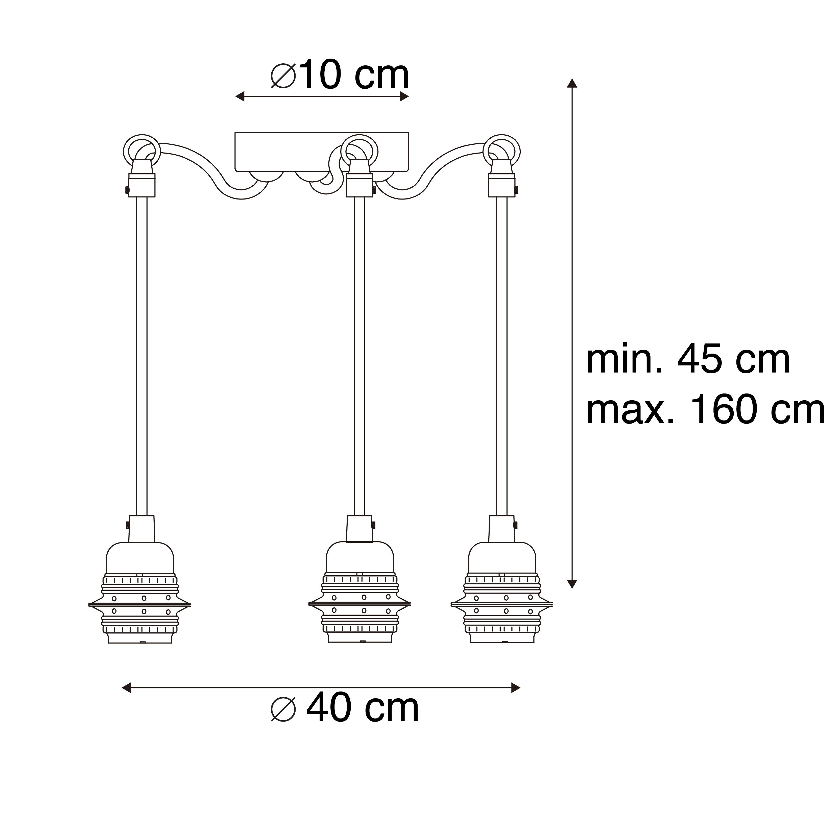 Industri�le hanglamp zwart - Cava 3