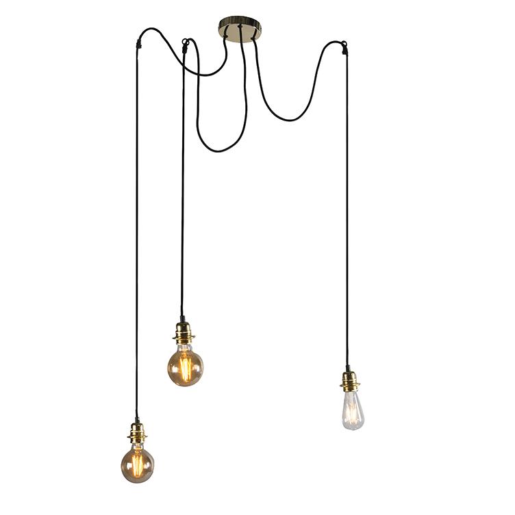 Nowoczesna lampa wisząca złota - Cava 3
