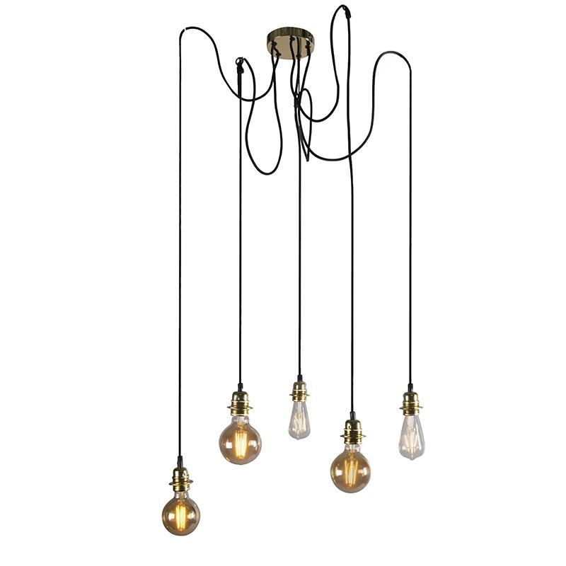 Nowoczesna lampa wisząca złota - Cava 5