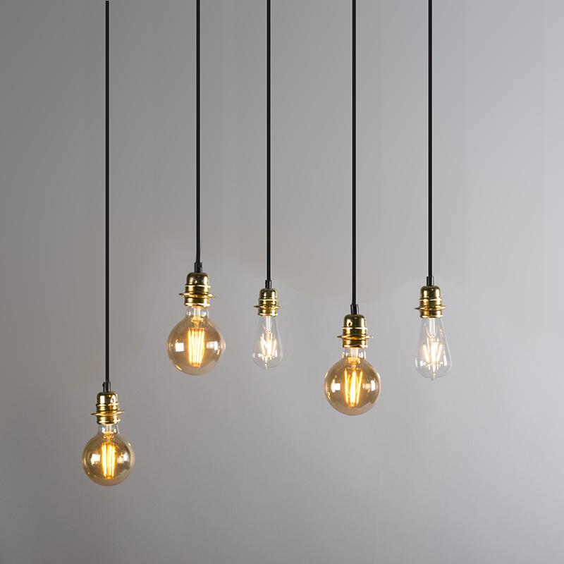 Hanglamp Cava 5 goud