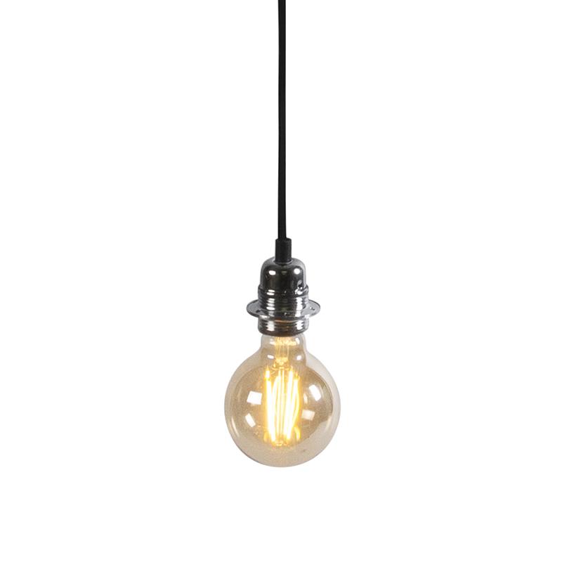 Nowoczesna lampa wisząca chrom - Cava 1