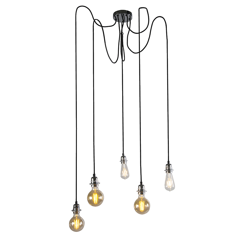 Hanglamp Cava 5 Chroom