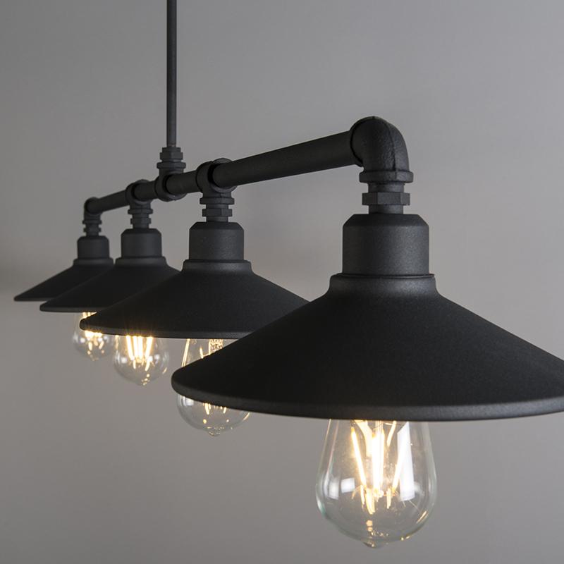 Hanglamp 4 Laser zwart